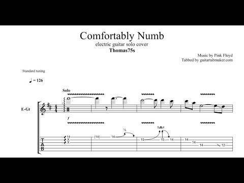 Comfortably Numb Solo Tab Thomas75s Electric Guitar Solo Tab Pdf Guitar Pro Youtube Guitar Solo Comfortably Numb Guitar