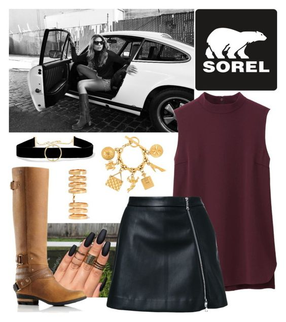 """""""Kick Up the Leaves (Stylishly) With SOREL: CONTEST ENTRY"""" by socerk ❤ liked on Polyvore featuring SOREL, Uniqlo, Guild Prime, Chanel, Repossi, Anissa Kermiche and sorelstyle"""