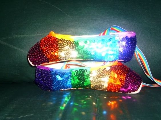 I think we can all agree that we need a pair of rainbow pointe shoes.