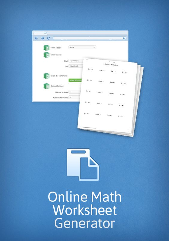Create worksheets for your math students with MathUSees online – Online Math Worksheet Generator