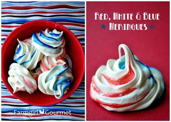 Red White Blue Meringues 3