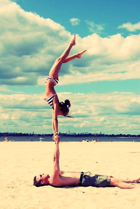 .: Acroyoga, Couple Picture, Fit Couple, Summer Lovin, Acro Yoga, Partner Yoga, The Beach, I Will, Summer Time
