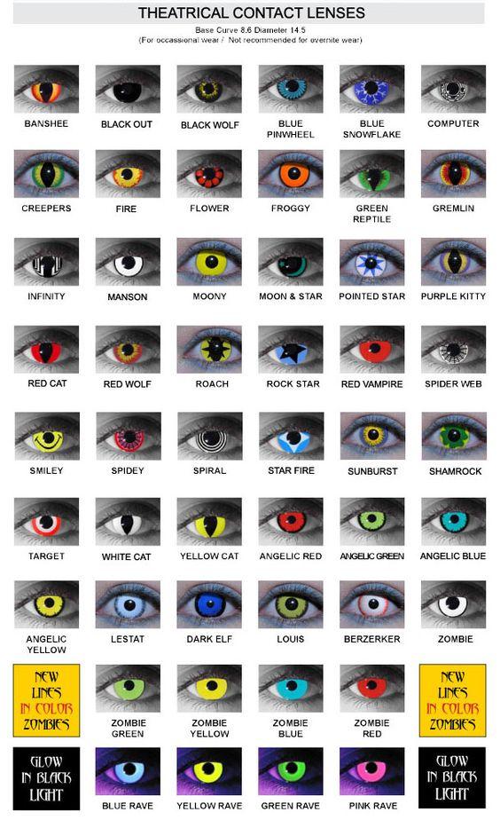 Crazy Contact Lenses | Crazy Contact Lenses for Halloween | Scary Website