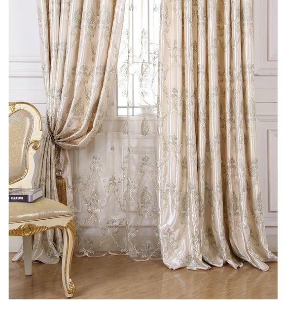Fashion nylon  katoen, geborduurd 50 % schaduw gordijn voor slaapkamer in Tule is uitverkocht, alleen gordijnBijvoorbeeld, als je nodig hebt 3 meter breedte, pls kies 150x270cm, hoeveelheid best van gordijnen op AliExpress.com   Alibaba Groep