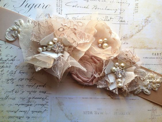 Bridal Sash Belt Wedding Sash Belt  Blush by TheRaggedDiamond, $67.00
