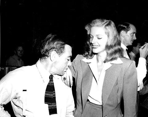 Peter Lorre and Lauren Bacall