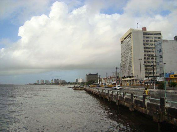 Avenida Rio Branco Centro Da Cidade De Aracaju Margeando O