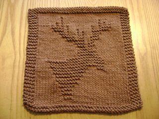 Moose/Deer Dishcloth free pattern