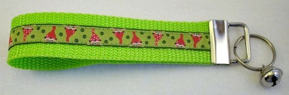 Schlüsselband Handschlaufe Zwerge grün von klingeley auf DaWanda.com