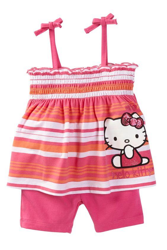 Hello Kitty Smocked Tank & Short Set (Baby Girls) by Hello Kitty on @nordstrom_rack