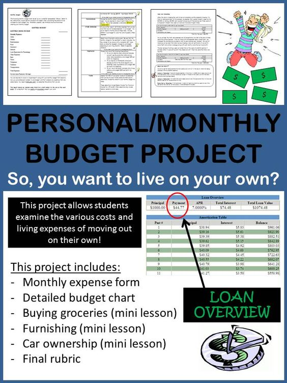 math worksheet : personal finance budgeting and planning monthly project  the  : Budgeting Math Worksheets