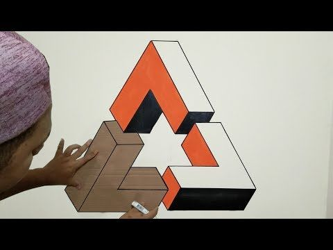 Optical Illusion 3d Wall Painting Triangle 3d Wall Decoration