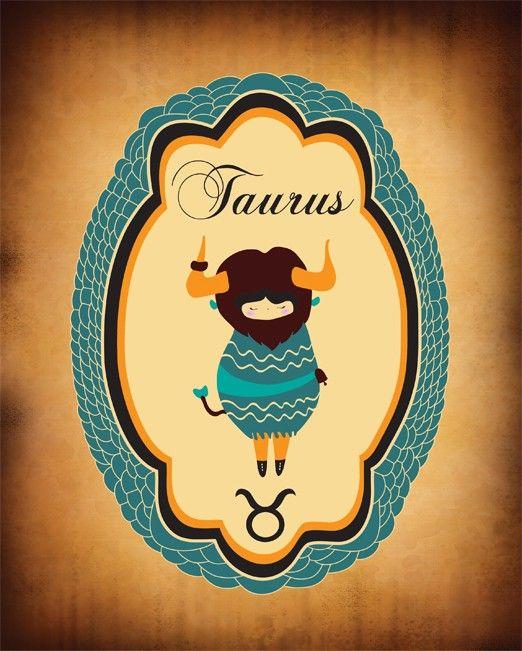 Need a Leo/Taurus SET! TAURUS Zodiac Sign / Indie Art, Original Drawings, Astrological Print, Taurus Constellation. $19.00, via Etsy.