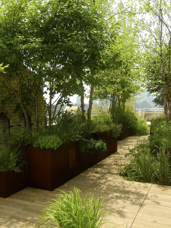 West village penthouse terrace meadow grove marpillero for Terrace trees