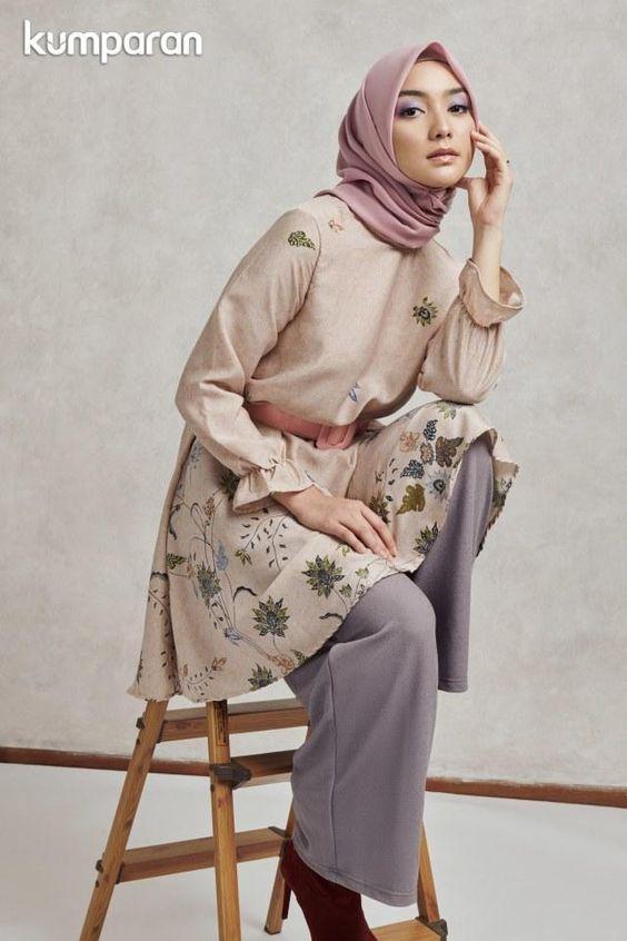Pin Di Muslimah Hijab Fashion Abaya Style Maxi Dress Long Dress Kebaya Baju Kurung