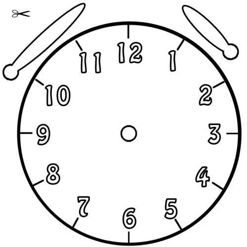Vorlage Uhr Blanko 01 Uhrzeit Lernen Ostern Grundschule Kostenlose Malvorlagen