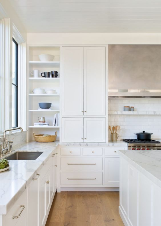 Beautiful And Inspiring Kitchen Design Ideas From Pinterest Jane At Home In 2020 Kitchen Inspiration Design White Kitchen Design Kitchen Cabinetry