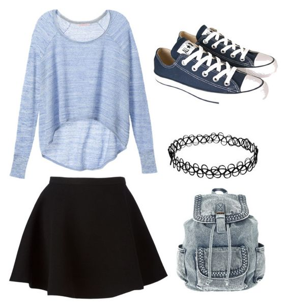 """""""blue"""" by lejlamahmutovic on Polyvore featuring Victoria's Secret, Neil Barrett and Converse"""