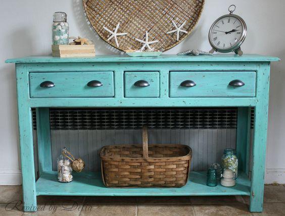 Beachy Sofa Table Redo Nautical Furniture Nautical And