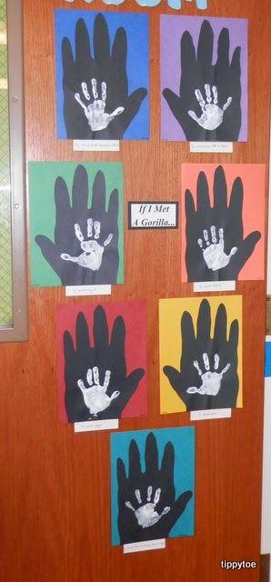Tippytoe Crafts: Gorilla & Me Handprints