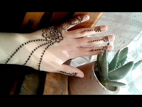 The Easiest To Design Henna For Beginnings And Light Designs Make You More Young And Young Youtube Mehndi Simple Henna Simple Mehndi Designs