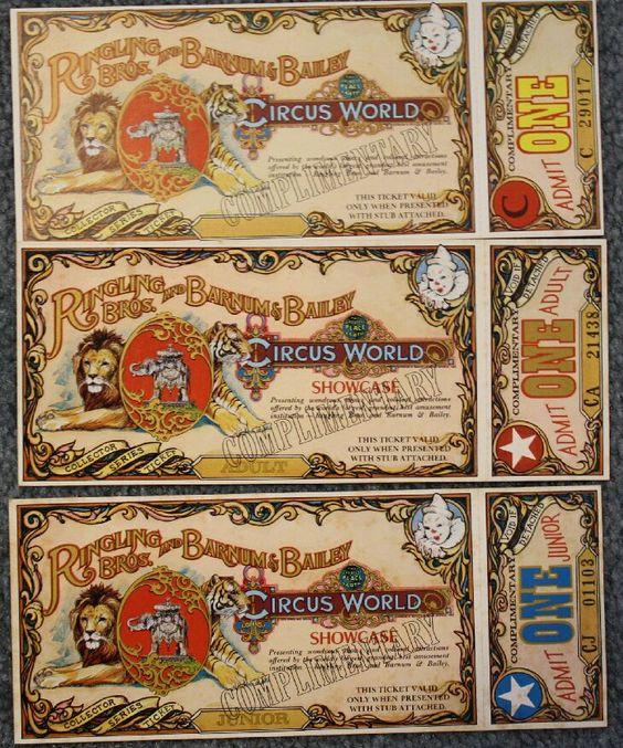 Vintage Circus Ticket 23