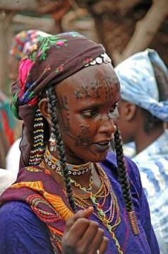 Cameroon - Mbororo woman with facial scarification, northern Cameroon | ©unknown, via cercedeafrica