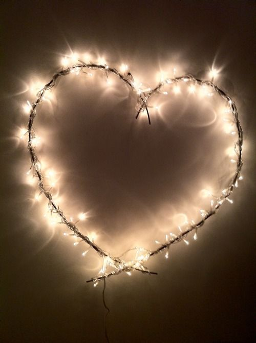 lighted up barbed wire shapes, or anything! great re-purposed idea!: