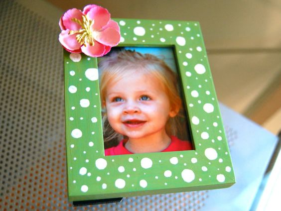 Sweet Pea Petite 2.5 x 3.5 Green Polka Dot Pink by BubbaAndLucy