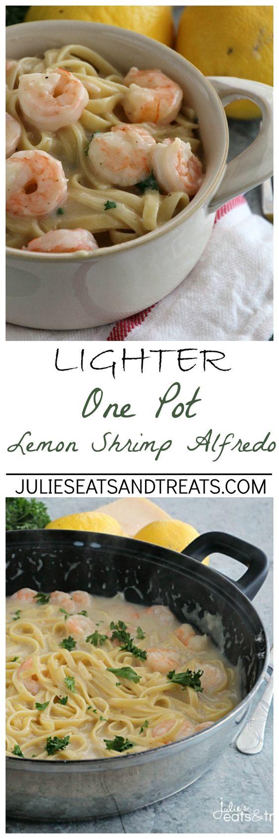 Lighter One Pot Lemon Shrimp Alfredo Recipe One Pot, Lighter
