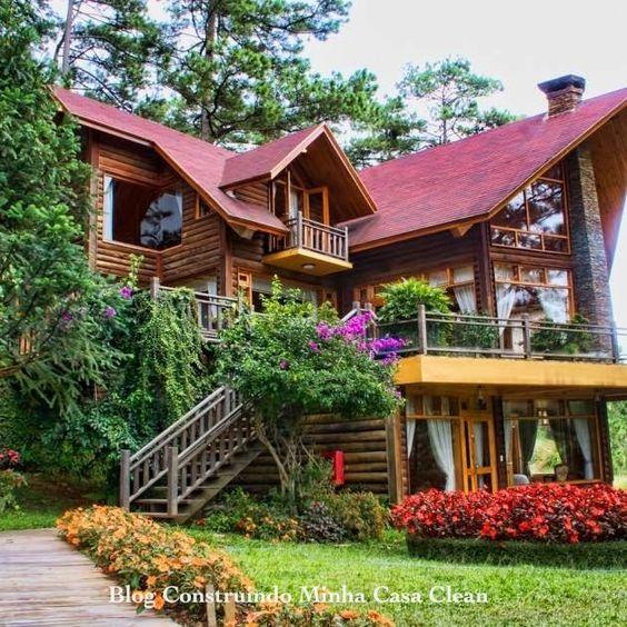 Fachadas de casas de campo maravilhosas for Fachadas de casas de campo