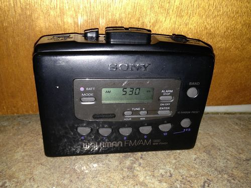 Vintage Sony Black Walkman AM/FM Cassette