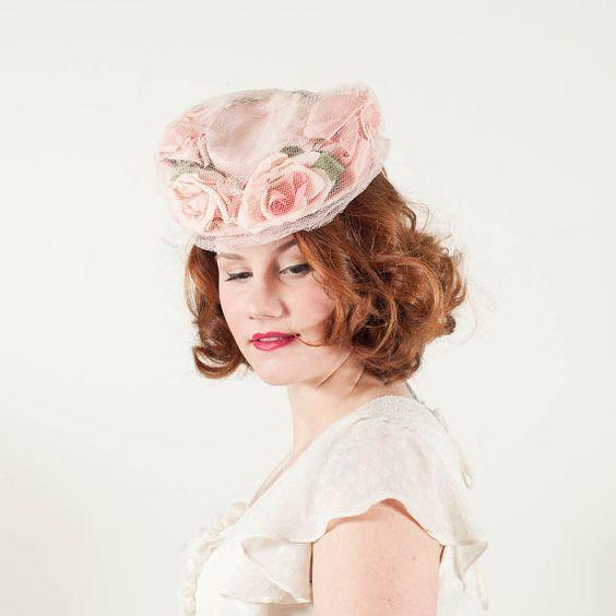 vintage 1940s Easter Parade tilt hat
