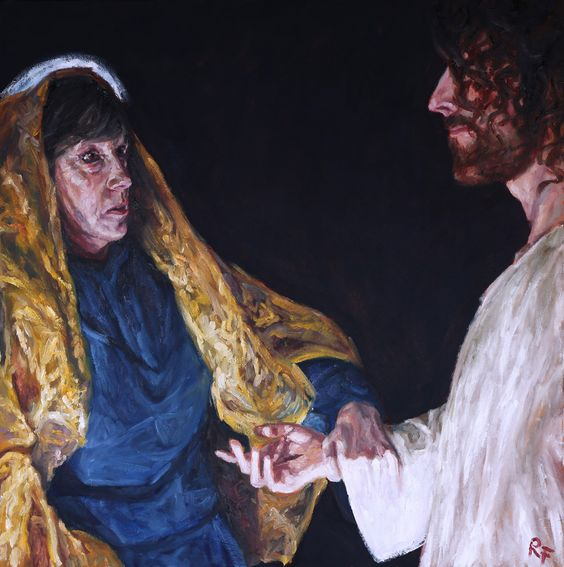 Rob Floyd Fine Art - Stations of the Resurrection, (ii). Christ Meets His Mother