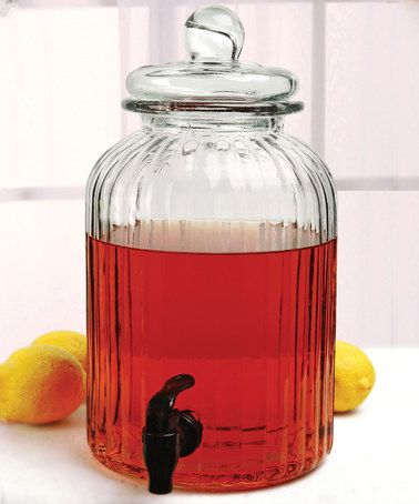 Another great find on #zulily! Ridge Glass 1.3-Gal. Beverage Dispenser #zulilyfinds