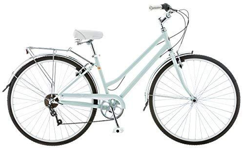 Amazon Com Schwinn Wayfarer Hybrid Bicycle Featuring Retro Styled 16 Inch Small Steel Step Through Frame And 7 Speed With Images Hybrid Bicycle Hybrid Bike Comfort Bike