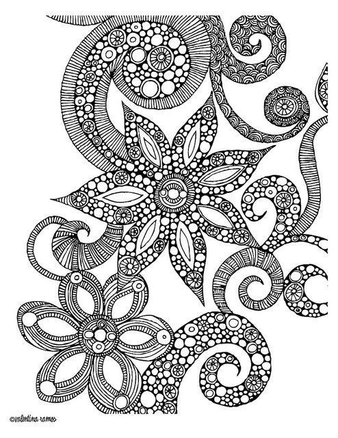 Detailed Coloring Pages For Teenage Girls
