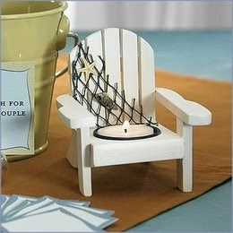 Wooden Deck Chair Candle Holders Favors, cute if i could ever find them..