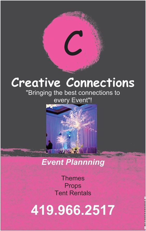 Contact Creative Connections & Events for all your Party Planning Needs!!