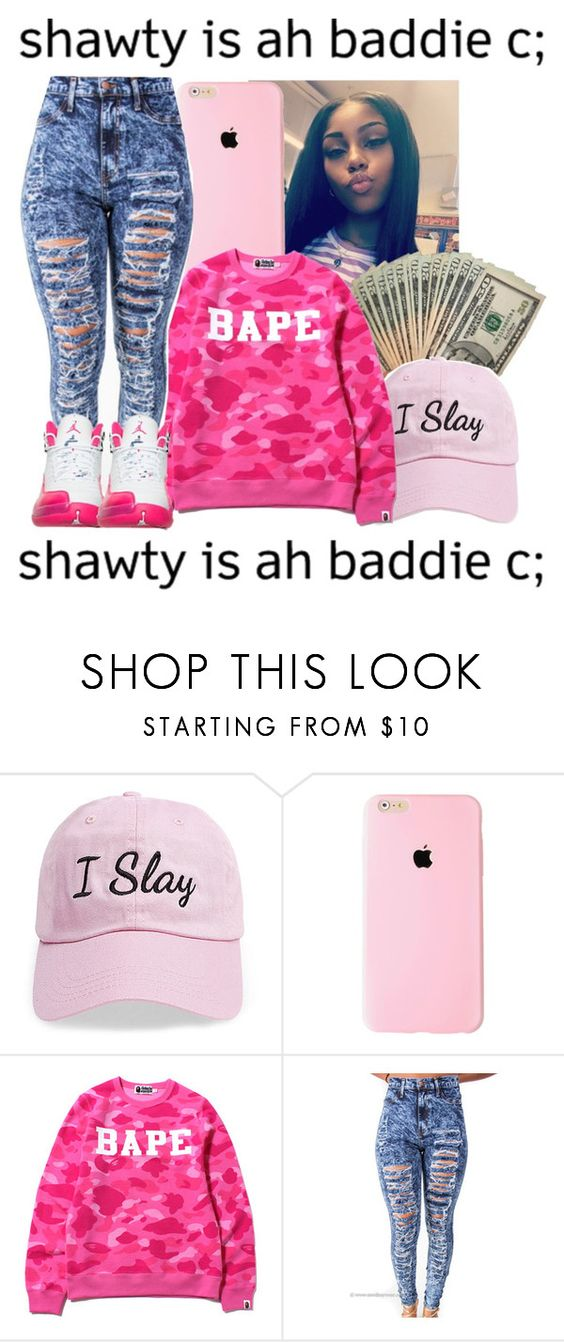 """""""waspoppin😛👉💰💦👅💋😂💝👌"""" by queenag123 on Polyvore featuring beauty, Steve Madden and A BATHING APE"""