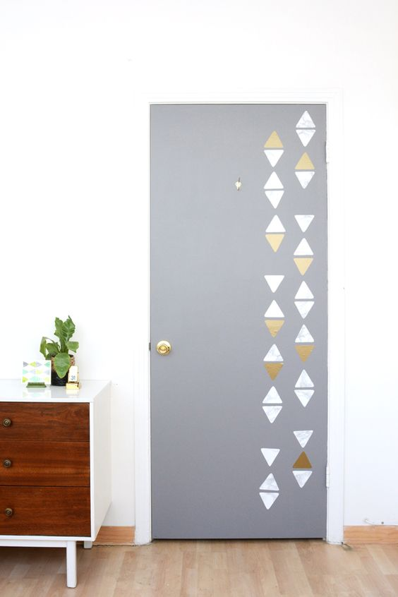 Oleander and Palm: DIY Triangle Patterned Door