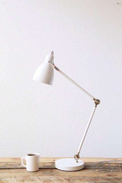 emily's bedside lamp: