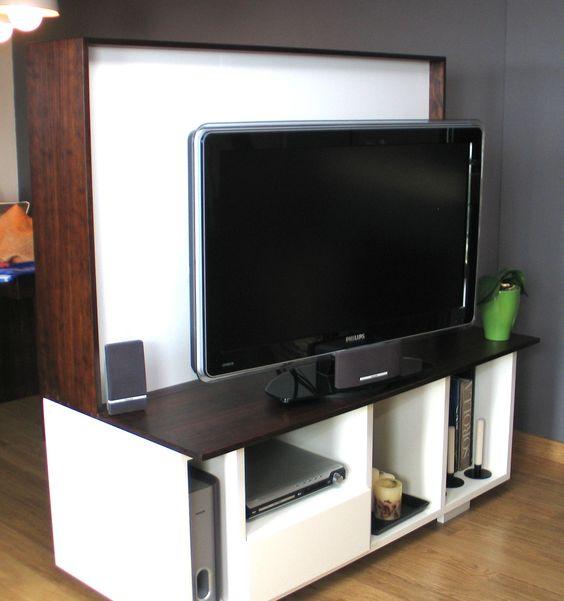 Tvs on pinterest - Mueble separador de ambiente ...