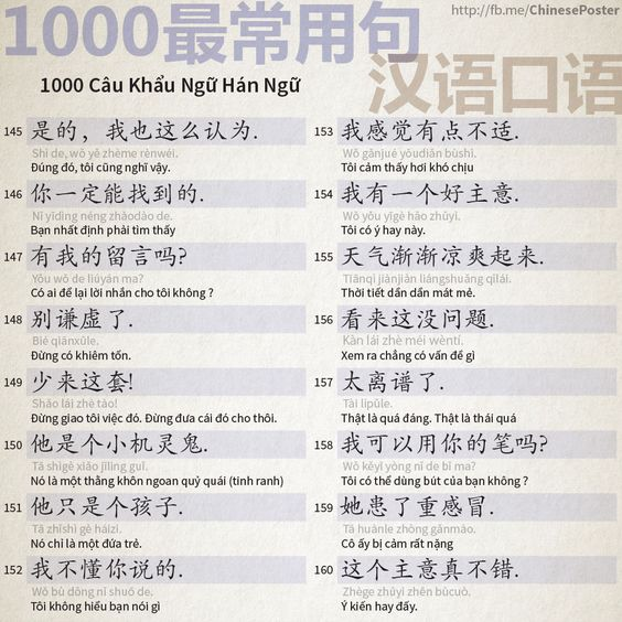1000 Chinese Sentences In Daily Life Part 10
