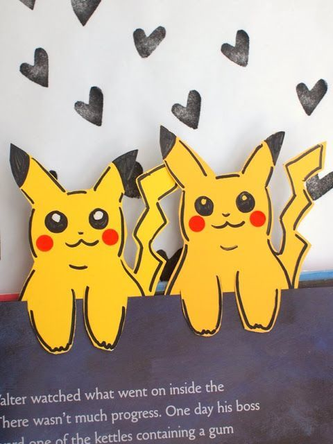 Paint Chip Pokemon Pikachu Bookmarks- Easy Kids Craft!
