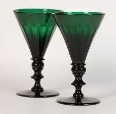 green wine glasses - Google Search