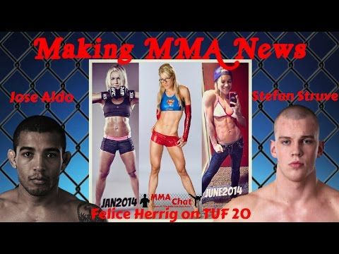 Felice Herrig on TUF 20, Stefan Struve nearly faints before UFC 175, and UFC 176 -  On the season 2 episode 23 show of 'The MMA Live Chat Show' the guys discuss Felice Herrig's unplanned fight on the first day of TUF 20, that happened before they even started filming the TUF 20 season, Stefan Struve nearly fainting before UFC 175, and what that might mean for his career, and the cancellation of UFC 176 due to Jose Aldo's injury. #TUF20 @feliceherrig @StefanStruve & #UFC176 #Cancellation…