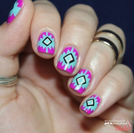 Native American Style And Fun Nail Art Pinterest
