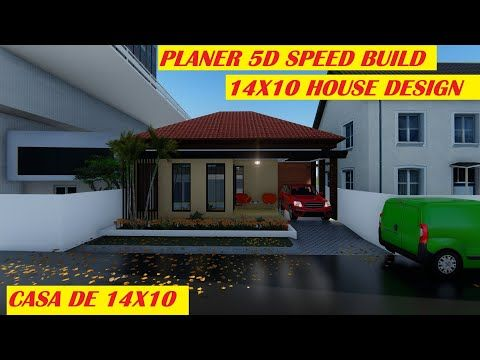 Single Storey Modern House Speed Build In Planner 5d 14x10 House Design Tutorial Traditional House Youtube House Design Traditional House Modern House