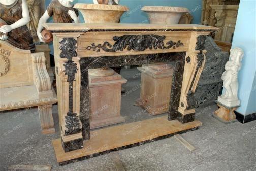 thegatz - Two Tone Italian Style Marble Fireplace Mantel, $3,400.00 (http://www.thegatz.com/two-tone-italian-style-marble-fireplace-mantel/)